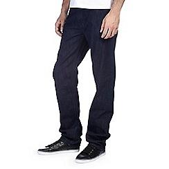Burton - Dark blue rinse wash belted jeans