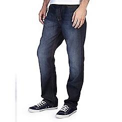 Burton - Dark coated belted straight jeans