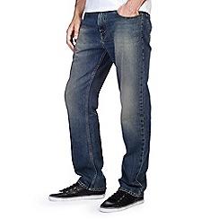 Burton - Mid tint blue straight jeans
