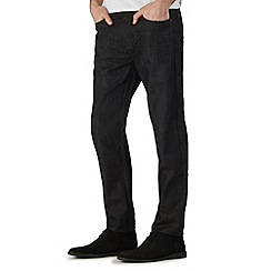 Burton - Black coated straight jeans