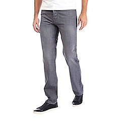 Burton - Grey straight fit washed jeans
