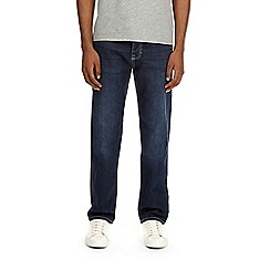 Burton - Big and tall mid blue straight leg jeans