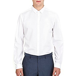 Burton - White plain slim fit shirt
