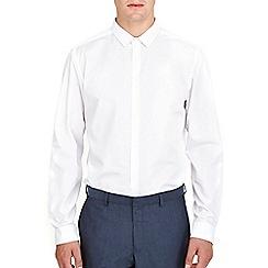 Burton - White plain slim fit shirt