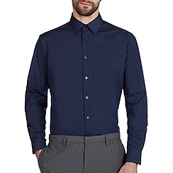 Burton - Navy blue regular fit shirt*