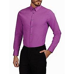 Burton - Pink skinny plain smart shirt