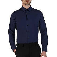 Burton - Navy blue slim fit smart shirt*