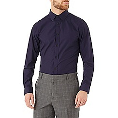 Burton - Tailored navy formal shirt