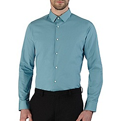 Burton - Green slim fit smart shirt