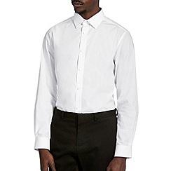 Burton - White tailored fit smart shirt