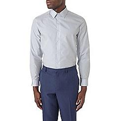 Burton - Tailored fit light grey shirt