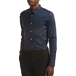 Burton - Skinny stretch navy shirt