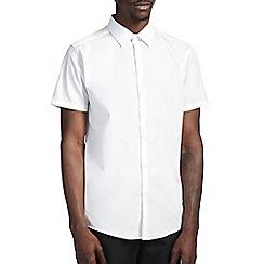 Burton - Slim short sleeve white shirt