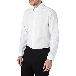 Burton - Tailored fit white plain shirt