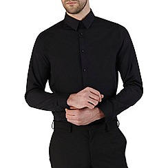Burton - Black skinny fit smart shirt