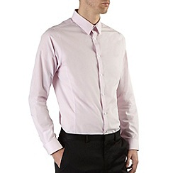 Burton - Pink skinny fit smart shirt