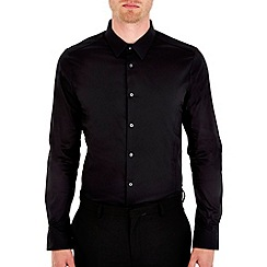 Burton - Black stretch skinny fit shirt