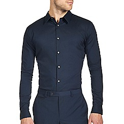 Burton - Navy smart stretch shirt
