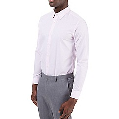 Burton - Slim fit pink plain shirt