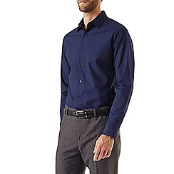 Burton - Slim navy smart shirt