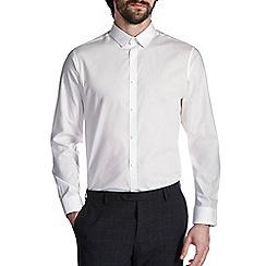 Burton - White tailored cotton penny collar shirt