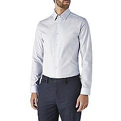 Burton - Slim fit light grey shirt