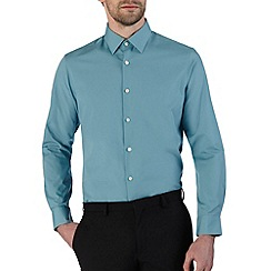 Burton - Green tailored fit smart shirt