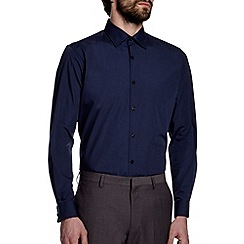 Burton - Navy blue tailored smart shirt