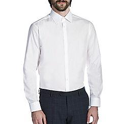Burton - White tailored cotton spread collar shirt