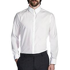 Burton - White tailored cotton button down collar shirt