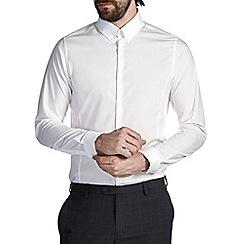 Burton - White skinny cotton button down collar shirt