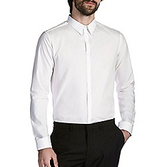 Burton - White slim fit forward point shirt