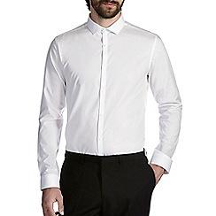 Burton - Slim white cutaway collar shirt