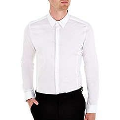 Burton - White stretch skinny fit shirt