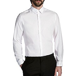 Burton - Slim white penny collar shirt