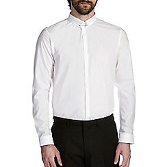 Burton - Slim white pin collar shirt