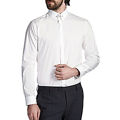 Burton - White tailored cotton pin collar shirt
