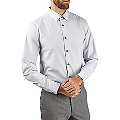 Burton - Grey tailored easy iron essential shirt