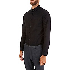 Burton - Black skinny easy iron essential shirt