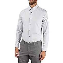 Burton - Grey slim easy iron essential shirt