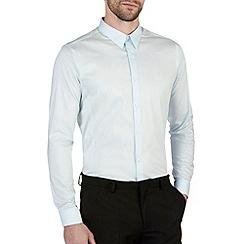Burton - Aqua blue stretch skinny fit shirt