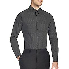Burton - Black all over print skinny shirt