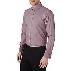Burton - Slim fit red checked shirt