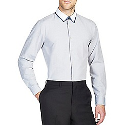 Burton - Grey contrast collar shirt