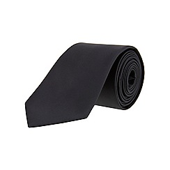 Burton - Plain black regular tie