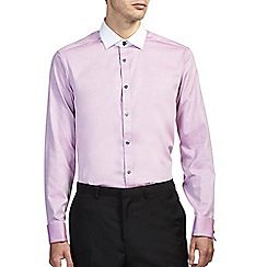Burton - Pink tailored textured shirt
