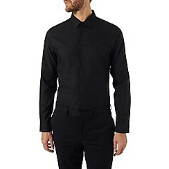 Burton - Slim fit black textured shirt