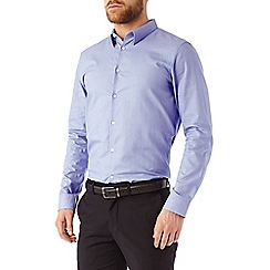 Burton - Slim fit blue cotton geo shirt