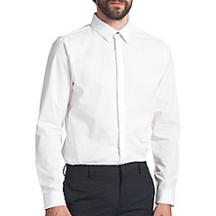 Burton - Slim white textured collar shirt