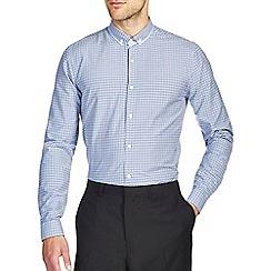 Burton - Blue gingham smart shirt